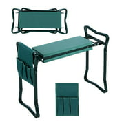 Seat Kneeler Folding Home Garden Seat Kneeler Kneeling Pad Rest Outdoor Lawn Beach Chair With Tool Pouch
