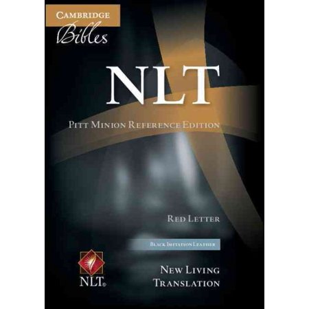 NLT Pitt Minion Reference Bible, Red Letter, Black Imitation Leather Nl442: Xr](Minions In The Bible)