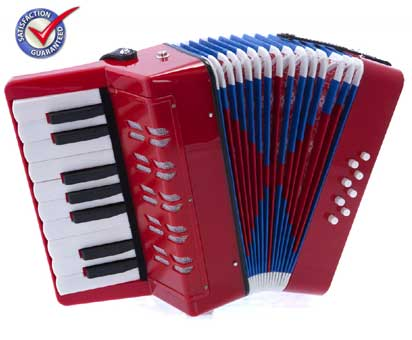 D'Luca Kids Piano Accordion 17 Keys 8 Bass Red by D'Luca