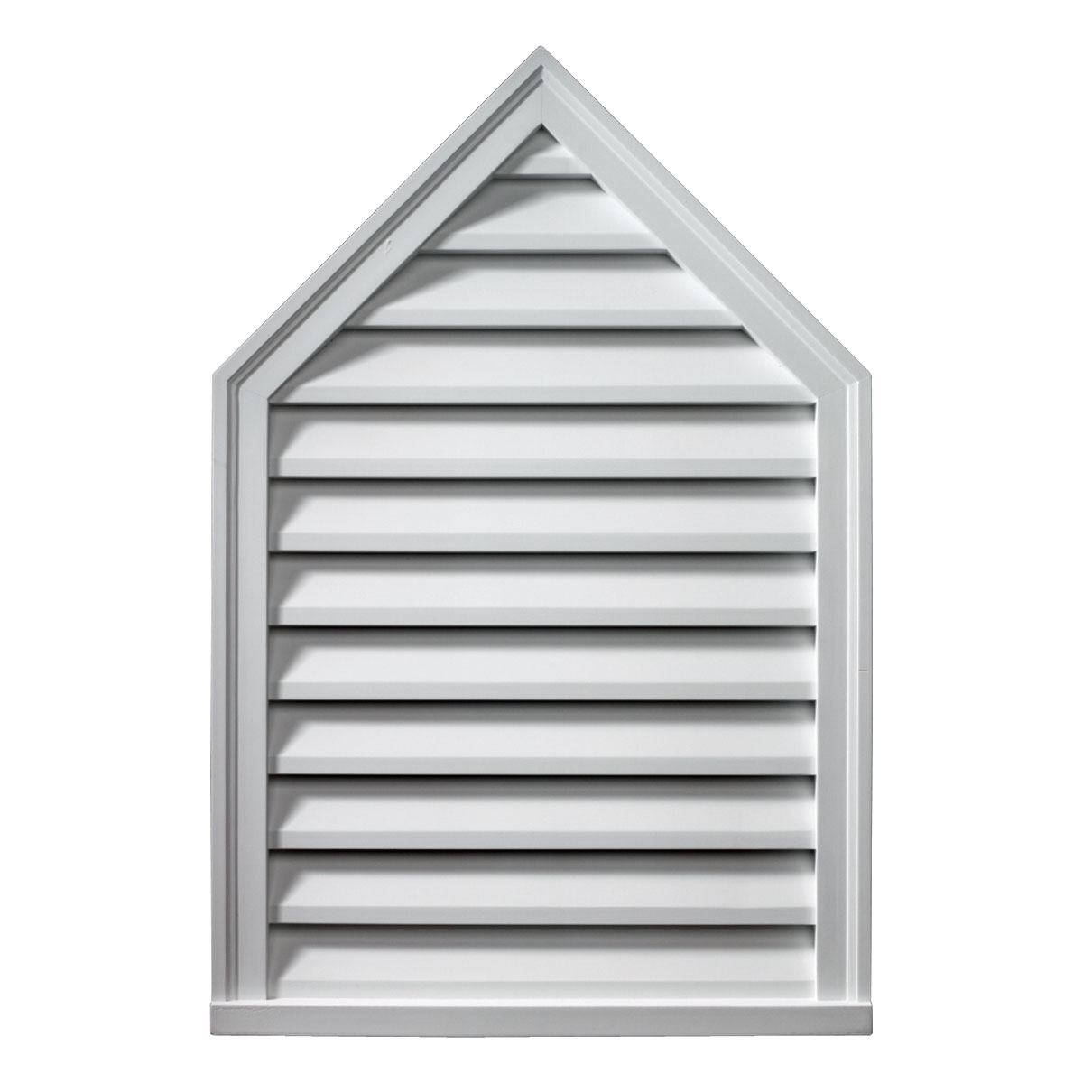 "24""W x 36""H x 2""P, Pitch 12/12 Brick Mould Style Peaked Louver, Non-Functional"