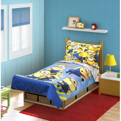 Awesome Despicable Me Minions Pc Toddler Bedding Set
