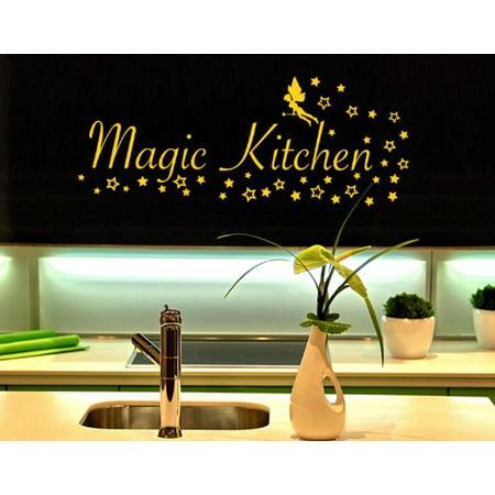 Magic Kitchen Wall Decal Wall Sticker Vinyl Wall Art Home Decor Wall M
