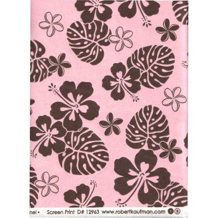 Aloha Petals (Petal Pink and Chocolate Brown Tropical Aloha Print Flannel Quilt Fabric ~ HALF YARD ~ Aloha Flannel by D# 12963 Petal Aloha Flannel 2 ~.., By Robert)