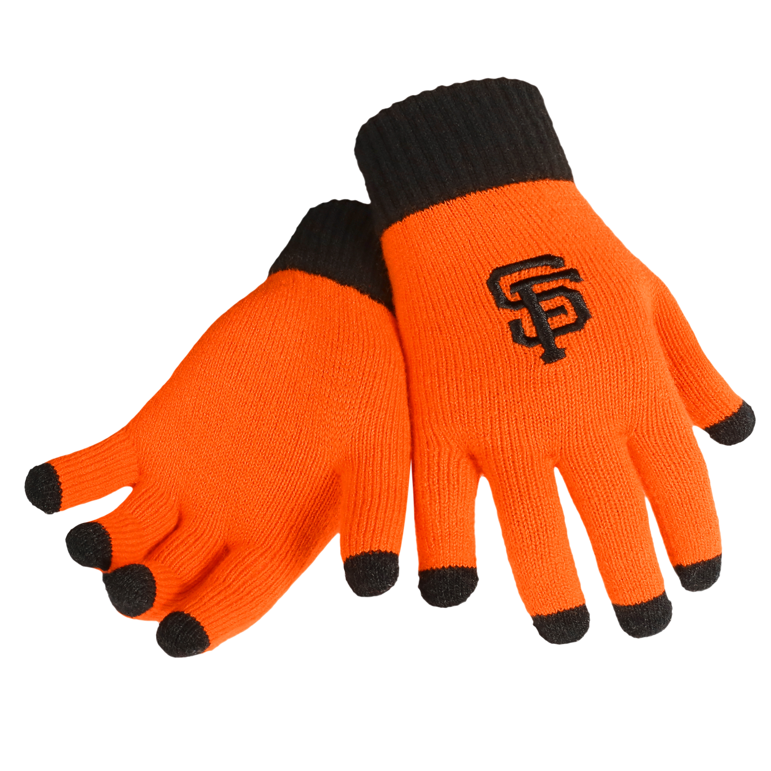 San Francisco Giants Official MLB Glove Solid Outdoor Winter Stretch Knit by Forever Collectibles 262190 by Forever Collectibles