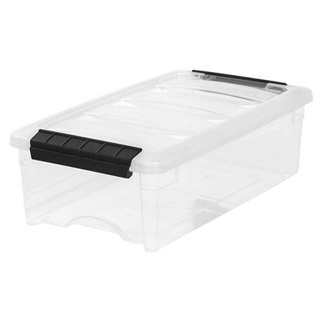 IRIS 5 Quart Stack & Pull Box, Clear, Modular storage bins designed to meet the storage needs of any room in the house. By IRIS USA Inc