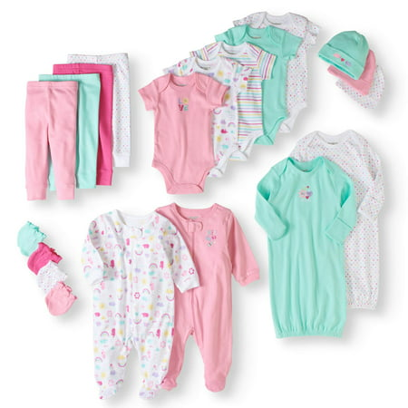 Newborn Gift Set Case - Garanimals Newborn Baby Girl 20 Piece Layette Baby Shower Gift Set
