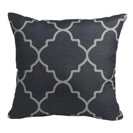 Mainstays Grey Fretwork Print Decorative Pillow