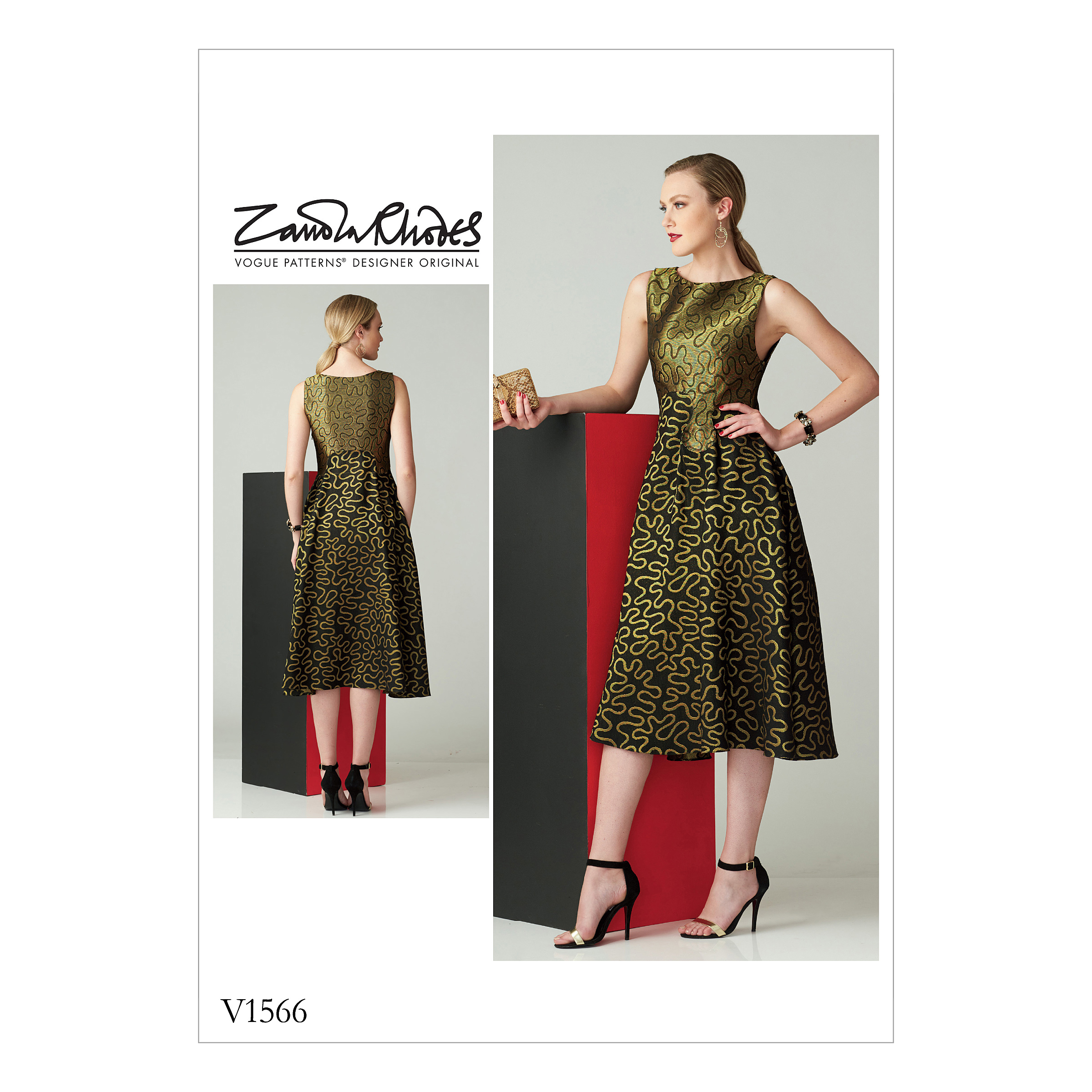 Vogue Patterns Sewing Pattern Misses' Fit-and-Flare Sleeveless Dress-6-8-10-12-14