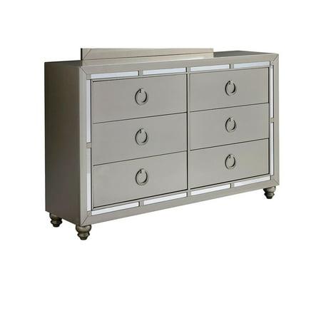 Global Furniture Riley Silver Dresser ()