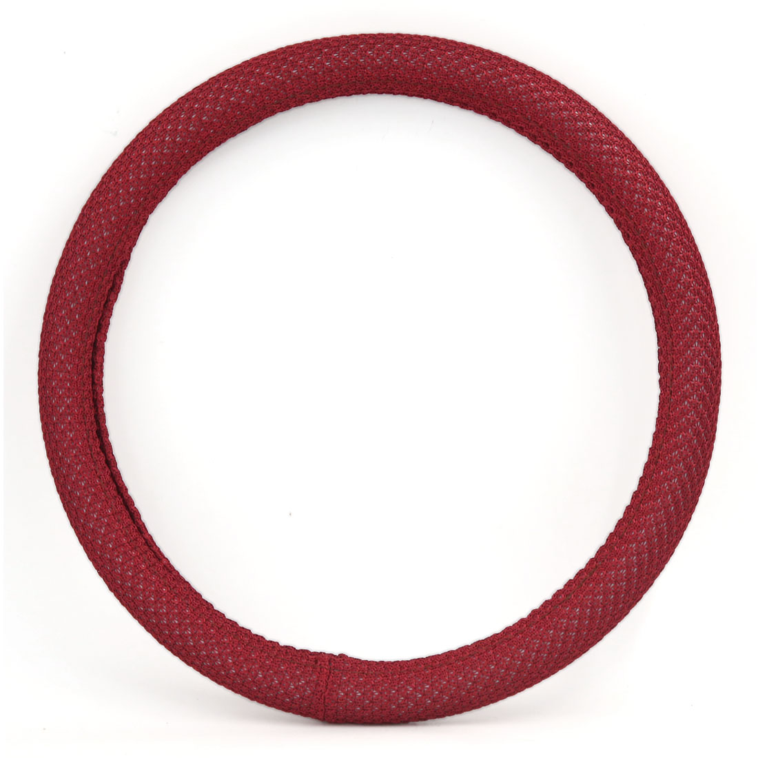 Unique Bargains 35cm Outer 30cm Inner Dia Odorless Antislip Steering Wheel Cover Red for Car