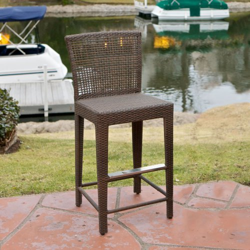 Pacific All-Weather Wicker Barstool