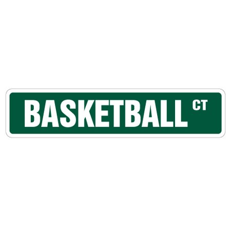 Basketball Street Sign Signs Hoop Net Coach Team Gift Shoes Uniform Player Game