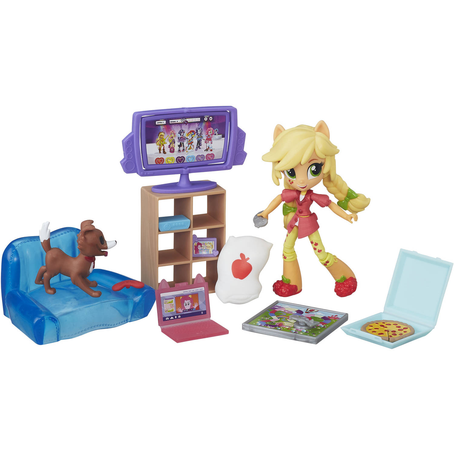 My Little Pony Equestria Girls Minis Applejack Slumber Party Games Set by Hasbro