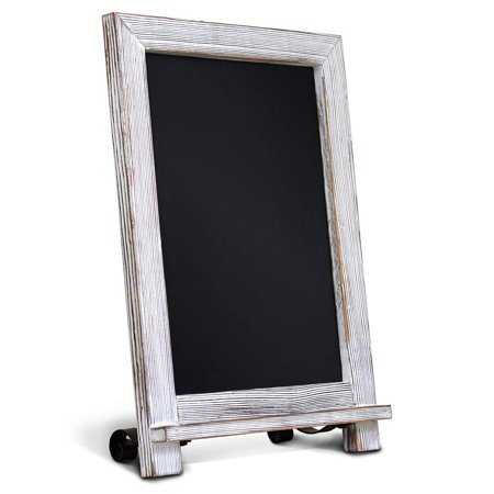 "Rustic Whitewash Tabletop Chalkboard Sign / Hanging Magnetic Wall Chalkboard / Small Countertop Chalkboard Easel / Kitchen Countertop Memo Board / 9.5"" x 14"" . Weddings, Birthdays, - Small Magnetic Board"