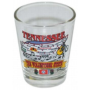Tennessee State Elements Map Shot Glass