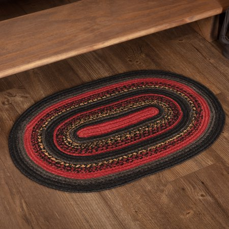 Chili Pepper Red Rustic Flooring Shasta Cabin Jute Oval Accent Rug