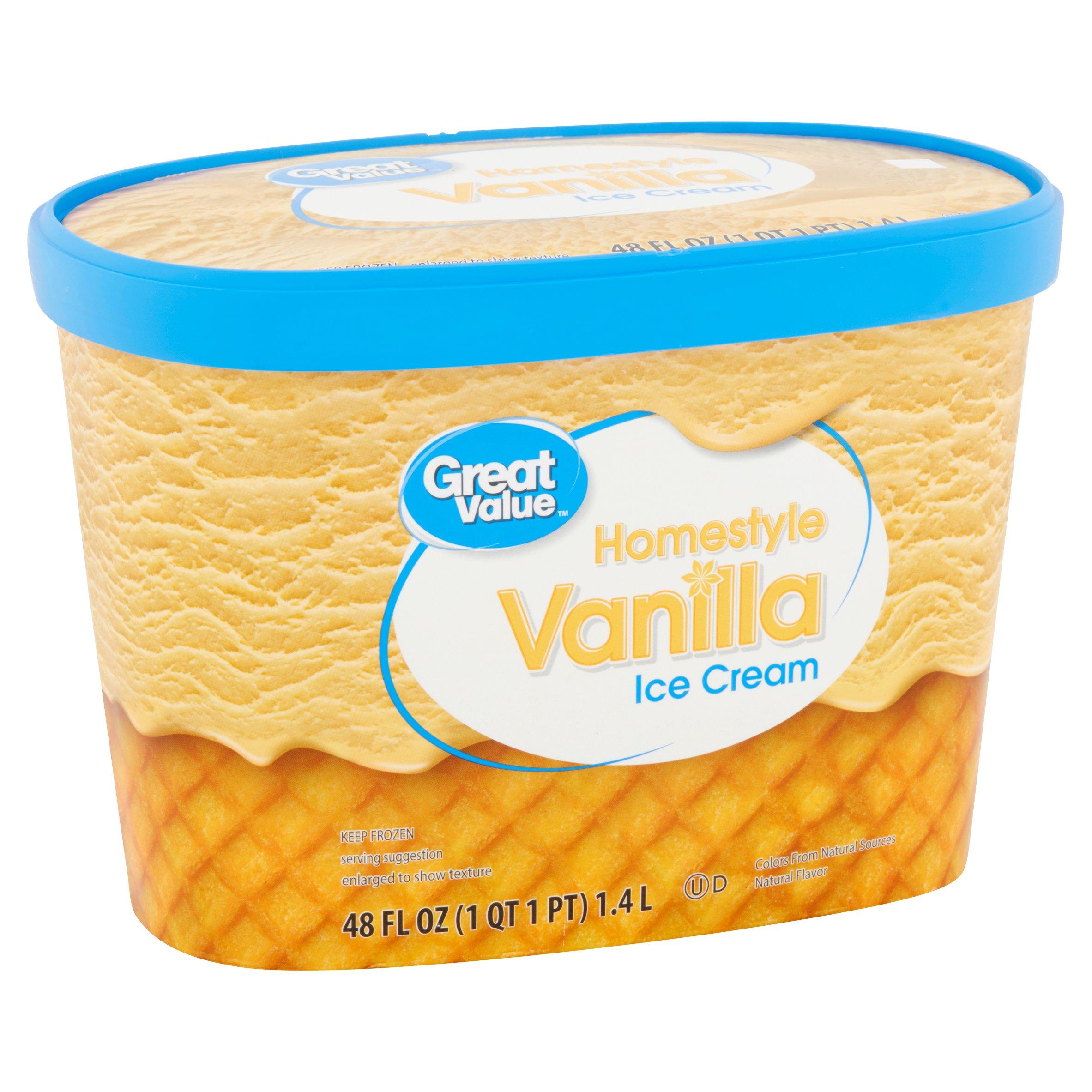 Great Value Homestyle Vanilla Ice Cream, 48 fl oz - Walmart.com