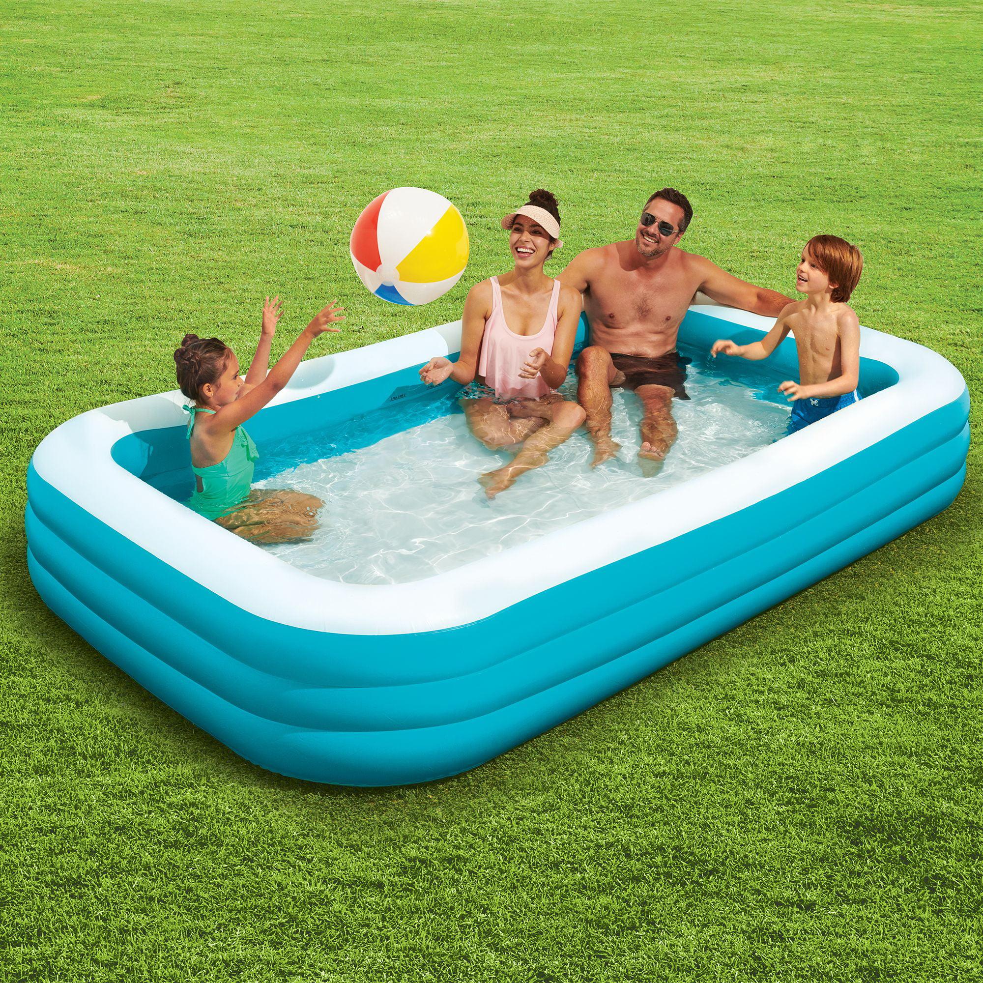 Play Day Rectangular Inflatable Family Pool 120 X 72 X 22 Walmart Com Walmart Com