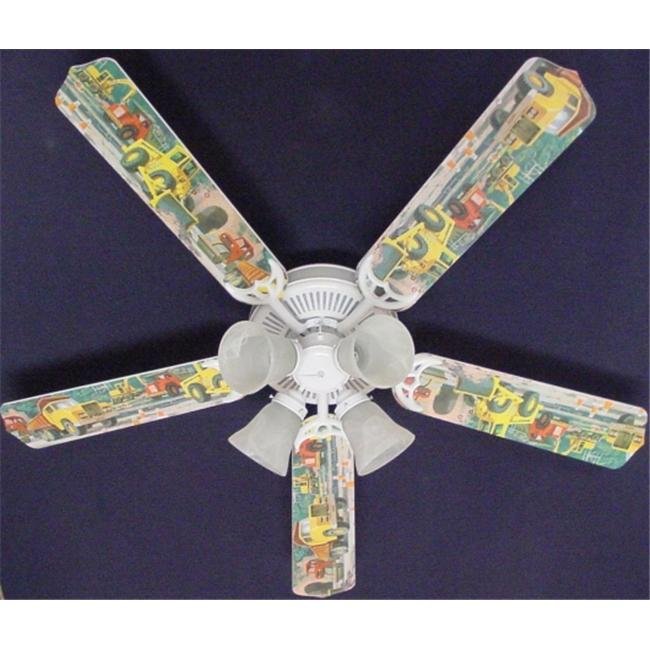 Ceiling Fan Designers 52FAN-KIDS-CDT Construction Dump Trucks Ceiling Fan 52 inch