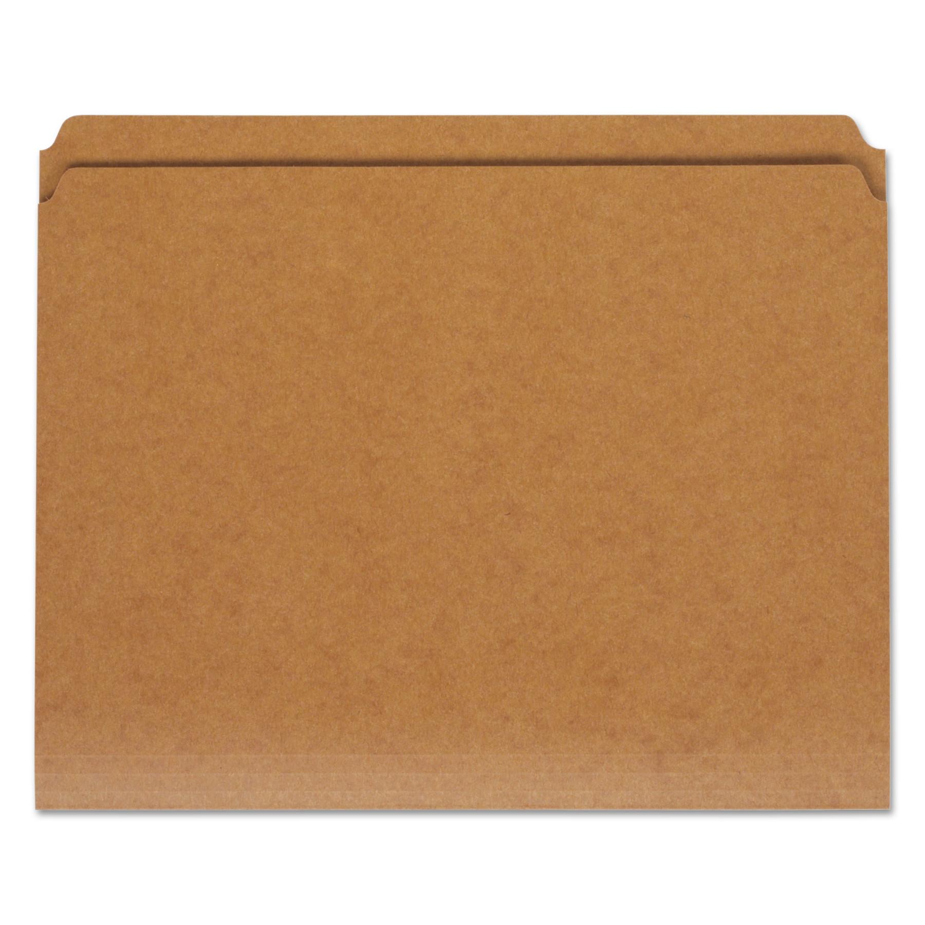 Universal Kraft File Folders, Straight Cut, Top Tab, Letter, Kraft, 100/Box -UNV16130