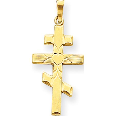 Gold Orthodox Cross - Leslies Fine Jewelry Designer 14k Yellow Gold Eastern Orthodox Cross (16x34mm) Pendant Gift