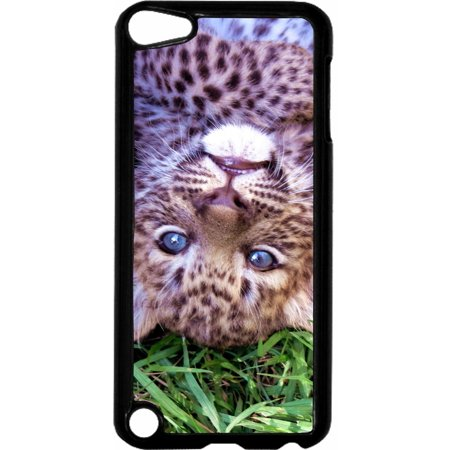 Leopard Cub   - Hard Black Plastic Case Compatible with the Apple iPod Touch 6th Generation - iTouch 6 Universal (Black Leopard Hard Case)