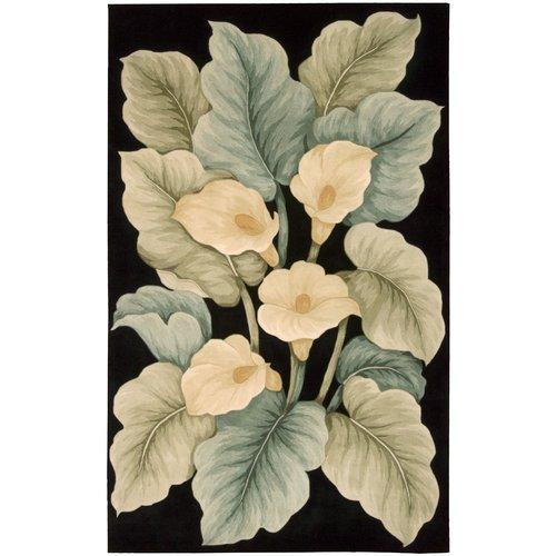 Nourison Tropics Black Novelty Area Rug