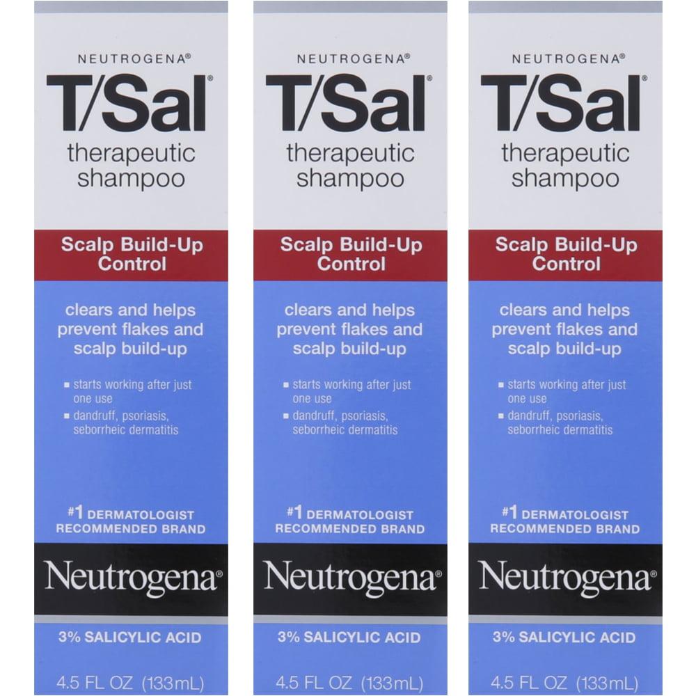 3 Pack Neutrogena T/Sal Therapeutic Maximum Strength Shampoo 4.50 oz Each