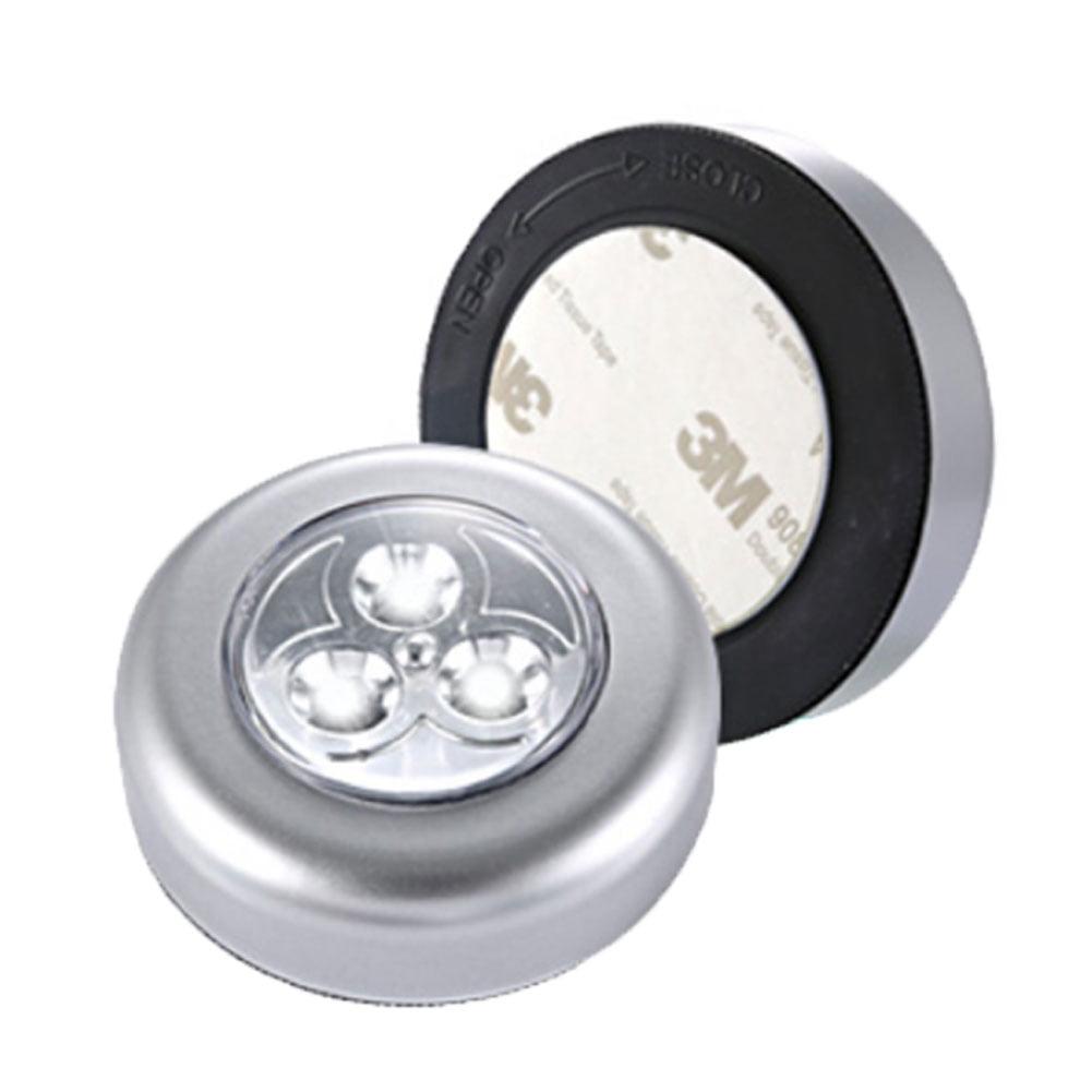 2 X STICK ON COB LED TOUCH PUSH LIGHT HOME CARAVAN MOTOR HOME BOAT