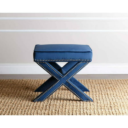 Devon & Claire Preston Nailhead Trim Ottoman Bench, Multiple Colors