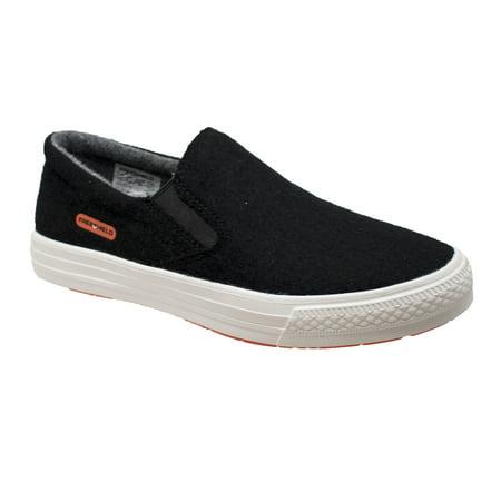 Women's Real Wool Casual Slip On Black Shoe ()