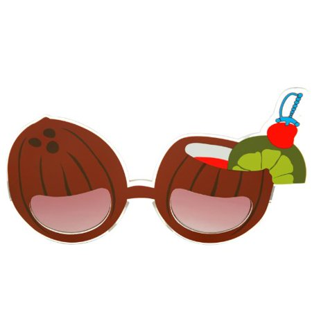 Coconut Drink Costume Glasses (Coconut Glasses)