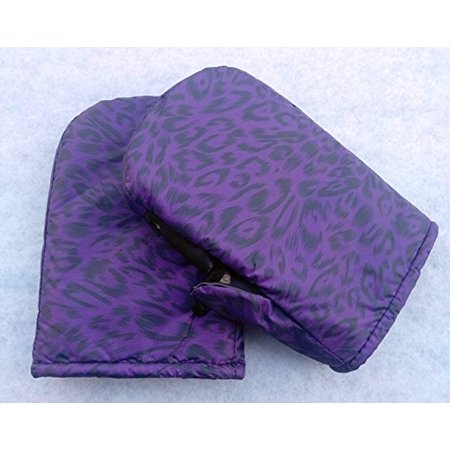 FiberMarker Snowboard Mittens 2-Pack Car Snow Removal Gloves (winter purple pantherine)