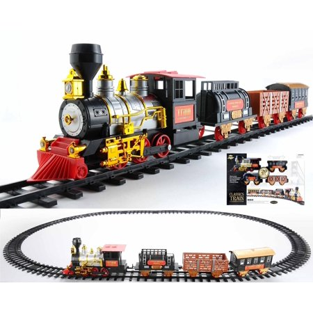 - 20-Piece Battery Operated Lighted & Animated Classics Train Set with Sound