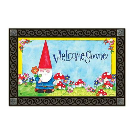 Welcome Gnome Spring Doormat Indoor Outdoor 18 Quot X 30