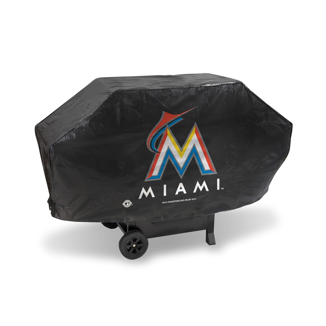 MLB Rico Industries Deluxe Grill Cover, Miami Marlins