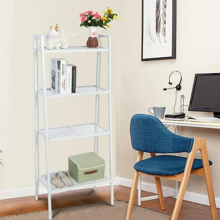 4 Tier Ladder Shelf A Frame Home Bookcase Ladder-Style Storage ...