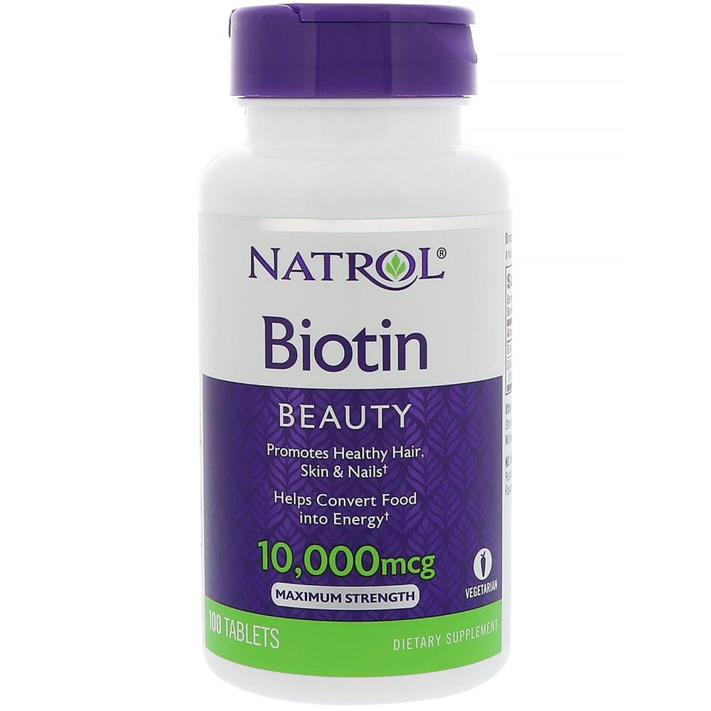 Natrol Biotin 10000mcg Tablets, 100 Ct