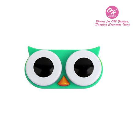 OH Fashion Contact Lens Case Owl style, Green travel case, 1