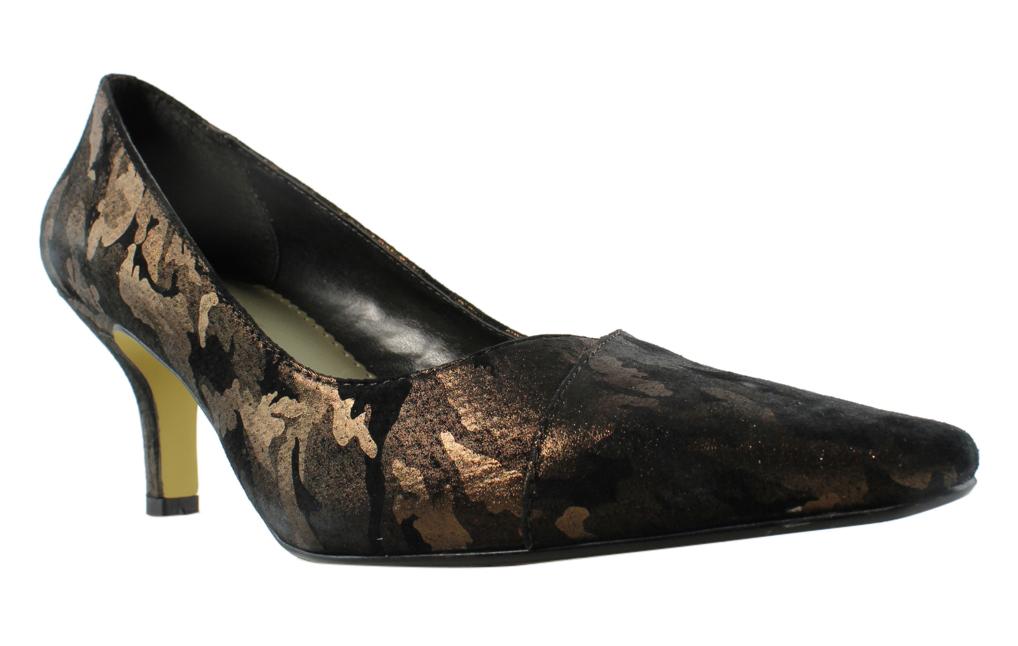 Bella Vita Womens Black BronzeCamo Pumps, Classic Heels Size 10 New by Bella Vita