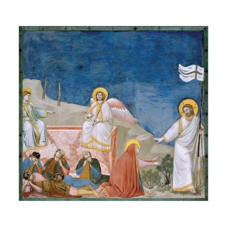 Stories of the Passion of Christ the Resurrection Print Wall Art By Giotto di Bondone