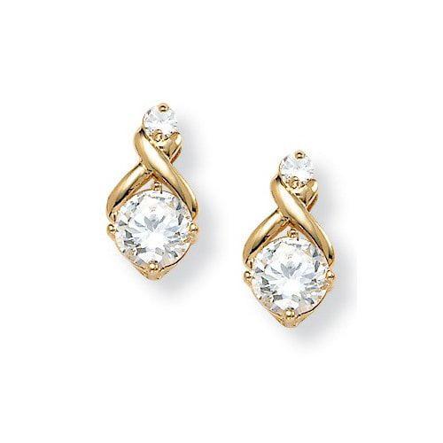 Palm Beach Jewelry Cubic Zirconia Earrings