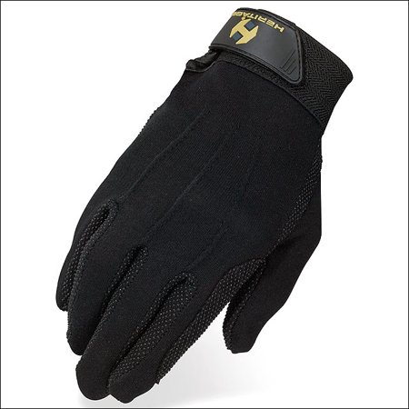 05 SIZE HERITAGE STRETCHABLE COTTON GRIP GLOVE HORSE RIDING EQUESTRIAN - Heritage Grip