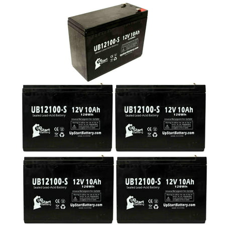 5x Pack - Universal Battery UB12100 Battery Replacement - UB12100-S Universal Sealed Lead Acid Battery (12V, 10Ah, 10000mAh, F2 Terminal, AGM, SLA) - image 4 of 4