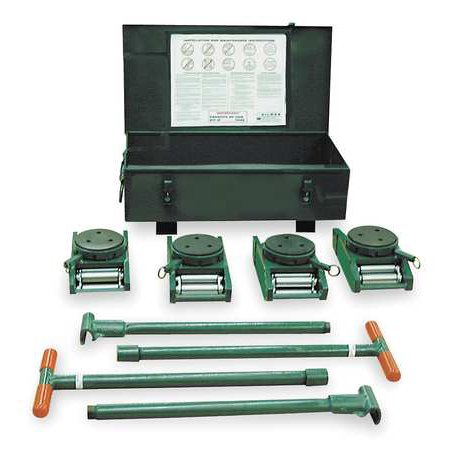 HILMAN ROLLERS KRS-60-SLP Equipment Roller Kit,120,000 lb.,Swivel