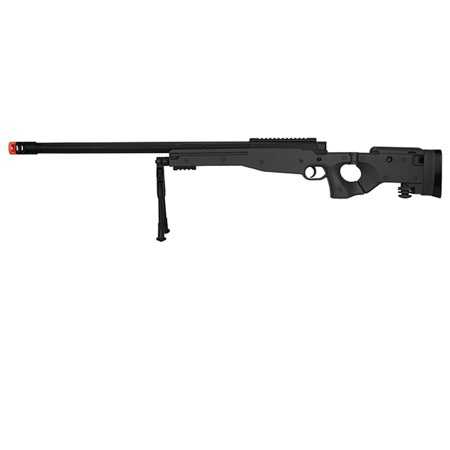 UK M1196B BOLT ACTION AIRSOFT GUN WITH FOLDING STOCK (BLACK)