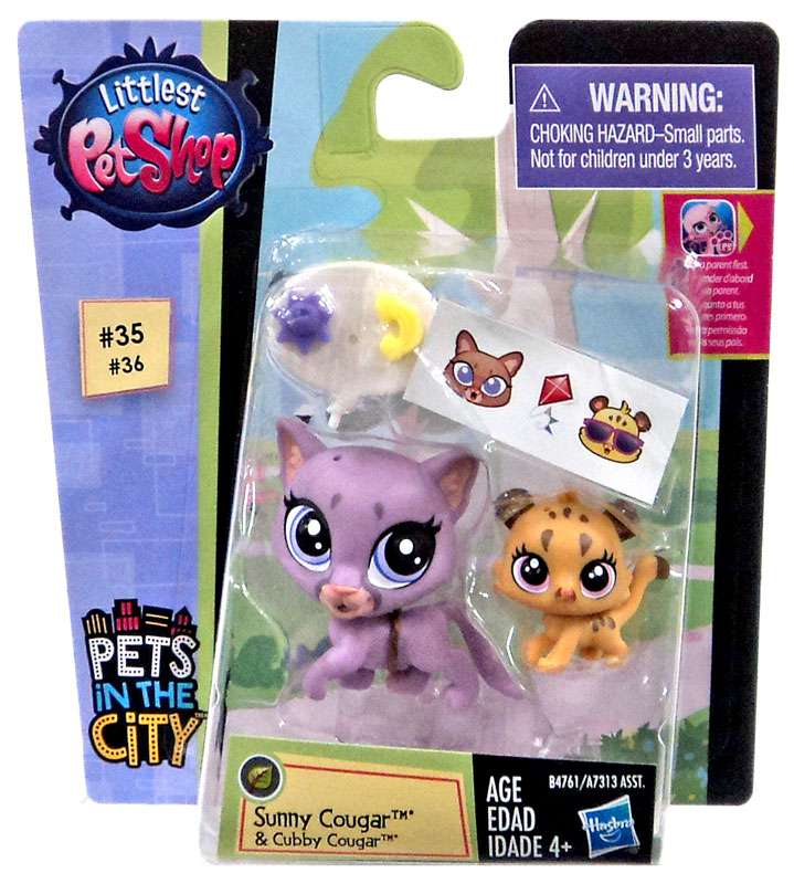 Littlest Pet Shop Pets in the City Sunny & Cubby Cougar