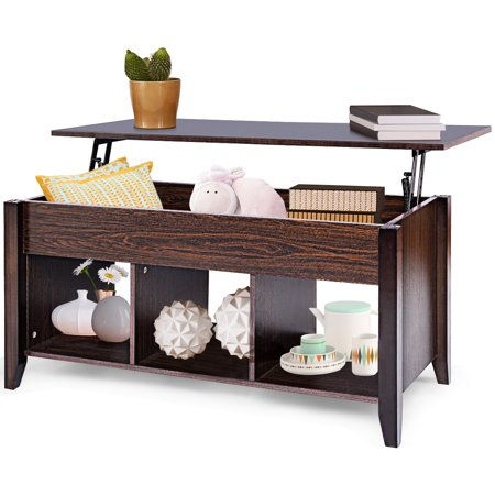 Gymax Coffee Table Hidden Compartment Storage Shelf Lift Top office Living Room Furniture Contemporary Office Coffee Table