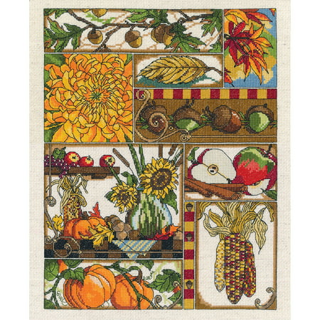 Autumn Montage Counted Cross Stitch Kit, 11