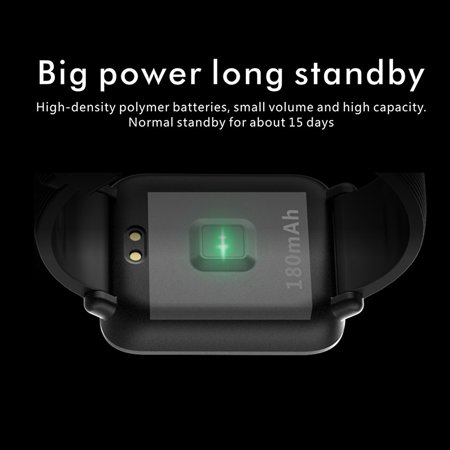 Lenovo S2 Smart Watch 1.4inch Heart Rate Sleep Monitor Calorie Pedometer Fitness Tracker Band - image 2 of 5